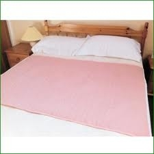 Washable Premium Double Bed Pad Pink 90cmX165cm Continence Care > Washable > Bed & Chair Pads