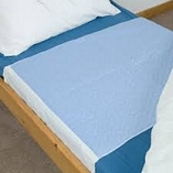 Washable Premium Double Bed Pad Blue 90cmX165cm