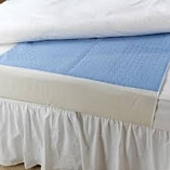Washable Quick Dry Bed Pad Blue 85cmX90cm