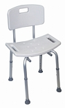Adjustable Height Shower Stool with Back