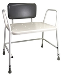 Portland Bariatric Height Adjustable Shower Stool with Padded Back Support